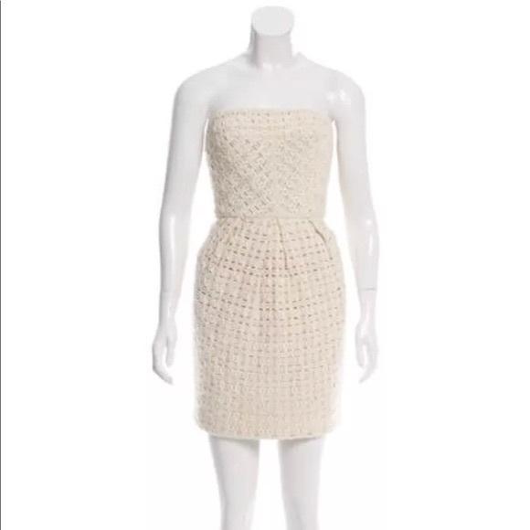 Tibi Dresses & Skirts - Tibi crochet strapless dress